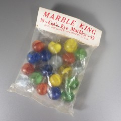 19 Cat's Eye Marble King Vintage Marbles in Original Unopened Bag