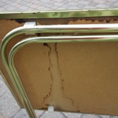 Vintage Set 4 Folding TV Tray Tables + Rolling Stand - Green Roses