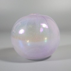 Miniature Urchin Blush Iridescent Levay Intaglio Art Glass Oil Lamp