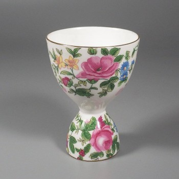 Crown Staffordshire Thousand Flowers Vintage Bone China Double Egg Cup