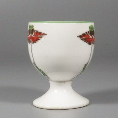 Foley Art China Peacock Pottery Vintage Art Deco Egg Cup