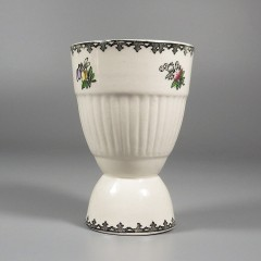 Adams China Ironstone Vintage Flowers Double Egg Cup