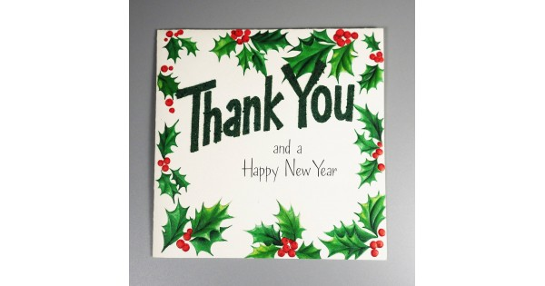 Hallmark Vintage Greeting Card Christmas New Year