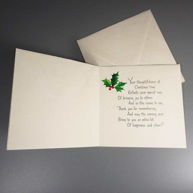 Hallmark vintage greeting card christmas new year hallmark vintage christmas thank you new year greeting card unused m4hsunfo