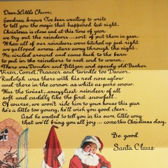 Vintage Christmas Letter from Santa and Envelope - Unused