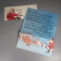 Unused Vintage Christmas Letter from Santa and Envelope