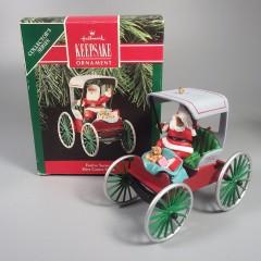 Festive Surrey Here Comes Santa Vintage Hallmark Christmas Ornament