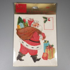 Unopened Hallmark Santa Press-On Christmas Package Seal Trims and Tags