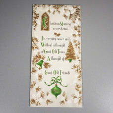 Unused Sunshine Mid Century Vintage Christmas Card