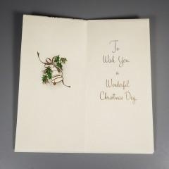 Unused Sunshine Mid Century Vintage Christmas Card