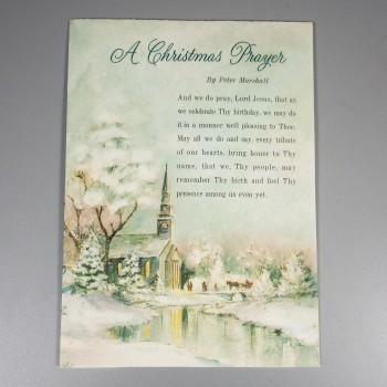 Unused Vintage Hallmark Christmas Prayer Greeting Card Peter Marshall