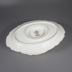 Gastonia Noritake China Gravy Boat with Attached Underplate