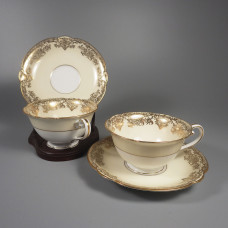 Noritake China Gastonia Cup and Saucer Sets - Pair