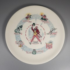 1953 Buffalo China Christmas Carol Plate - Scrooge's Transformation