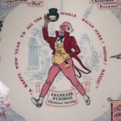 1953 Buffalo China Christmas Carol Plate - Scrooge's Transformation