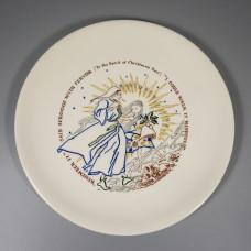 1956 Buffalo China Christmas Carol Plate - Spirit of Christmas Past