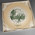 1957 Buffalo China Scrooge Dickens Christmas Carol Plate in Box
