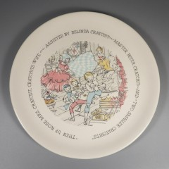 1959 Buffalo China Dickens Christmas Carol Plate Mrs. Cratchit and the Cratchits