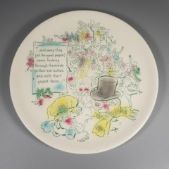 1960 Buffalo China Charles Dickens Christmas Carol Plate Original Box