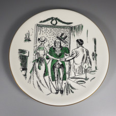 1957 Shenango China Greetings from Scrooge Christmas Carol Plate