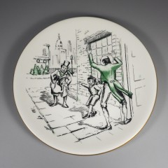 1958 Shenango China Scrooge Orders Cratchits Turkey Christmas Carol Plate