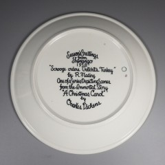1958 Shenango China Scrooge Orders Cratchits Turkey Christmas Carol Plate