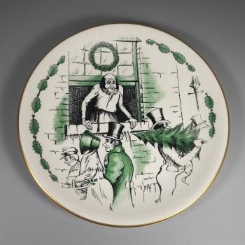 1959 Shenango China Glorious Christmas Day Christmas Carol Plate