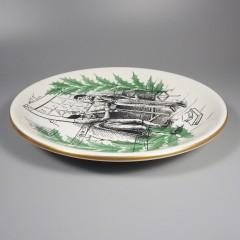 1960 Shenango China Merry Christmas Bob Christmas Carol Plate