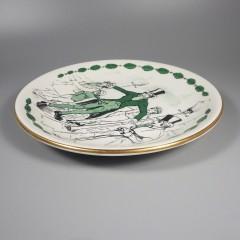 1962 Shenango China Corn Hill Slide Christmas Carol Plate