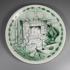 1963 Shenango China Marley's Ghost Christmas Carol Plate with Insert