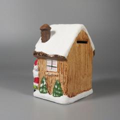Vintage Ardco Bank Santa Claus Snowman Figural Christmas Decoration