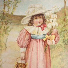 Easter Greetings For Grandma Woolson Spice Victorian Trade Card 1894