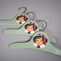 Vintage Wooden Baby Childs Clothes Hanger - 1940s - Multiples Available