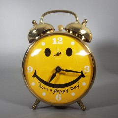 1970s Robert Shaw Lux Have a Happy Day Smiley Face Alarm Clock
