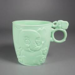 Vintage Kid's Plastic Drinking Cup Embossed Elephant