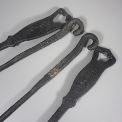 Hanging Vintage Cast Iron 5 Piece Kitchen Cooking Utensil Set
