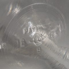 Large Vintage Owens Illinois Glass Hoosier Counter Jar Ribbed Corners