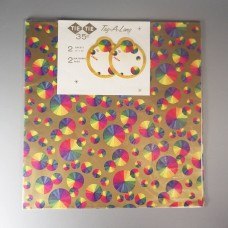 Colorful 1950s Vintage Tie Tie Rainbow Prism Color Wheel Wrapping Paper