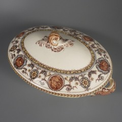 Antique Royal Doulton Florence Covered Transferware Server