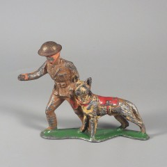 Vintage Barclay Toy Soldier Dispatcher Figure German Shepherd Dog B148