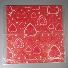 Heart Lace Doilies Vintage Hallmark Valentine Gift Wrapping Paper