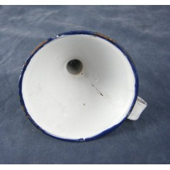 German White Enamel Graniteware Funnel