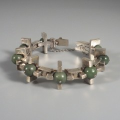 1950s Vintage Antonio Pineda Bracelet 970 Sterling Silver Taxco Mexico