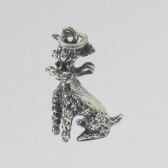 Vintage Poodle Charm Sterling Silver Danecraft Dog Charm for Bracelet