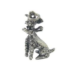 Vintage Poodle Charm Sterling Silver Danecraft Dog Charm for Bracelet