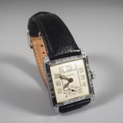 1927 Vintage Bulova Mens Watch Franklin Art Deco Radium Dial 14k WGF 15J